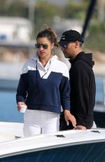 Alessandra Ambrosio Goes for a boat ride with boyfriend Richard Lee and friends while in Brazil