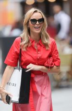 Amanda Holden Wears LK Bennett and a Reiss bag as she exits the Heart Radio Studios in London