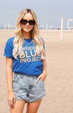 Amanda Stanton Attends Beach Cleanup with World Surf League Pure and Wildcoast at Zuma Beach