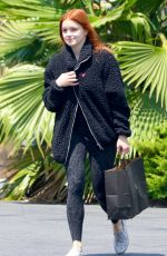 Ariel Winter Dons a leopard print black leotard while shopping for makeup at Sephora in Los Angeles