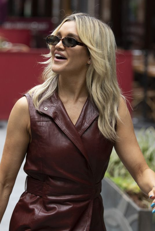 Ashley Roberts Seen leaving Global Radio in Leicester Square, Central London