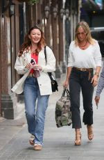 Atomic Kitten Pictured for the first time together as they arrive at Capital breakfast to chat about their hit England single You're the One in London