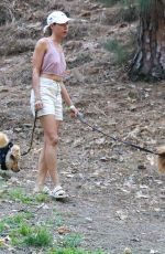 Aubrey Plaza Walking her dogs at a park in Los Angeles
