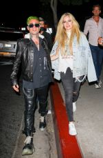 Avril Lavigne In good spirits after a dinner date at BOA Steakhouse in West Hollywood