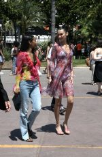 Bella Hadid Gets playful in a colorful print while out and about during the Film Festival in Cannes, France