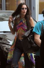 Bella Hadid Goes braless, leaving little to the imagination in a sheer dress as she arrives back at her hotel during The 74th Annual Cannes Film Festival 2021