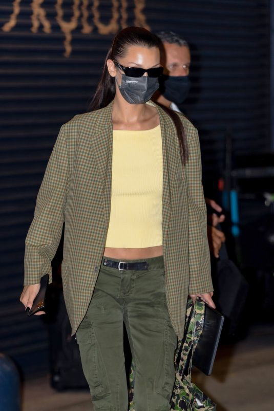 Bella Hadid Heads to a photoshoot for Michael Kors at The Skylark event space in New York City