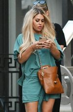 Bianca Gascoigne During a conversation with friends while enjoying an alfresco meal at Aubaine in Mayfair, London