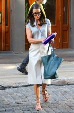"""Bridget Moynahan Is filming as a special guest on the new Sex and the City reboot """"And Just Like That"""" in Soho, New York"""