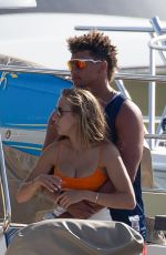 Brittany Matthews Seen on a yacht with friends in Cabo San Lucas