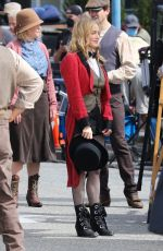 Caity Lotz Filming Legends of Tomorrow in Vancouver with costars Olivia Swann and Lisseth Chavez
