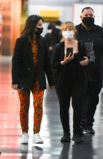 Camila Cabello and Shawn Mendes arrive with her mother Sinuhe Estrabao at JFK Airport in New York City