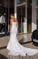 Camila Coelho Spotted looks stunning in a long white dress at the Martinez Hotel during the 74th Cannes Film Festival