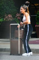Chantel Jeffries Checks out of a hotel in New York City