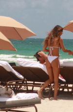Chantel Jeffries Shows off her curves as she has fun day at the beach with her sister in Miami