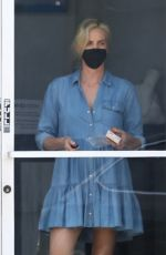 Charlize Theron Suffers a Marilyn Monroe moment leaving a dance class in Los Angeles