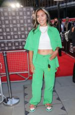 Chelcee Grimes Arrives at DAZN launch in London