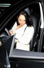 Cheryl Burke Is in good spirits as she walks to her car after grabbing dinner with a friend at Catch LA in West Hollywood
