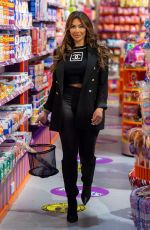Chloe Ferry Seen sweet shopping at Kingdom Of Sweets in Liverpool