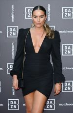 Chloe Ross Attends the Dazn x Matchroom VIP Launch Event at Kings Cross in London