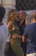 Chrishell Stause And Jason Oppenheim passionately kiss during a romantic vacation in Rome