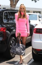 Chrishell Stause Stuns in pink as she supports Free Britney movement in West Hollywood