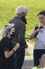 Daisy Ridley At the set of The Marsh King