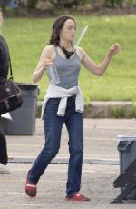 Daisy Ridley Filming The Marsh King