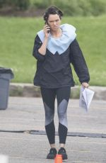 Daisy Ridley On the set of