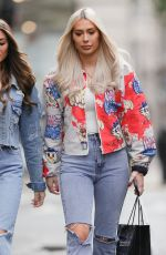 Demi & Chloe Sims Make a stylish exit from Boohoo styling event in London