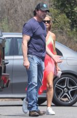 Denise Richards And Aaron Phypers appear to have a heated conversation visiting a medical building in Malibu