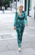 Denise Van Outen Seen arriving at Proud Embankment to see Julian Clary in Cabaret All Stars in London