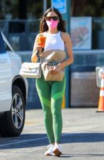 Eiza Gonzalez Shops for groceries and a healthy juice after a workout