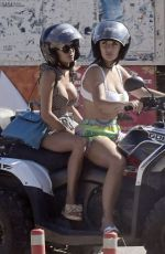Elettra Lamborghini Under boob while enjoying her time driving an ATV with her friend Ludovica Pagani in Mykonos