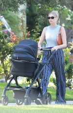 Elsa Hosk While out for a morning walk with her baby daughter near her home in Pasadena