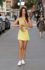 Emily Ratajkowski Looking radiant as she steps out for dinner in New York City