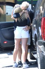 Emma Krokdal Stopping for fresh juice post-workout at Earthbar in West Hollywood