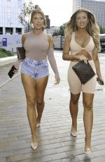 Eve & Jess Gale Seen arriving at Foodwell in Manchester