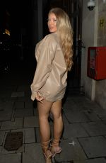 Eve & Jess Gale Seen heading for drinks with friends at Novikov, Mayfair