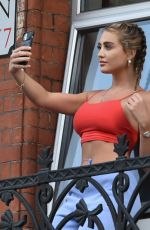 Georgia Harrison Seen during her hotel isolation in London after arriving back in the UK