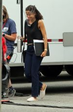 Gugu Mbatha-Raw Seen for the very first time on the set of AppleTV+ series