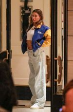 Hailey Baldwin Bieber Meets a girlfriend for dinner at London Hotel in West Hollywood