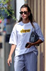 Hailey Bieber (Baldwin) with colored Nike sneakers while exiting Voda Spa in West Hollywood