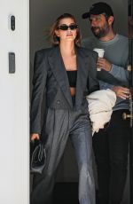 Hailey Bieber Leaving her office in Beverly Hills