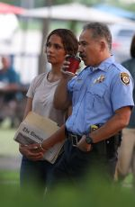 """Halle Berry Is all smiles on the set of """"The Mothership"""" in Norwood"""