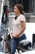 """Halle Berry On the set of """"Mothership"""" in Plainville"""