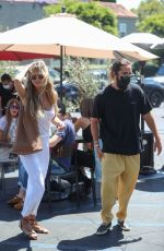Heidi Klum Goes shopping after lunch at Fred Segal in West Hollywood