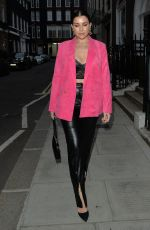 Imogen Thomas Arriving at IT restaurant , Mayfair for dinner with a friend