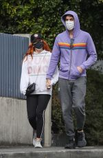 Isla Fischer And Sacha Baron Cohen are pictured holding hands as the pair visit a doctor in Leichardt, Sdyney