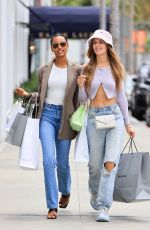 Jasmine Tookes & Josephine Skriver Enjoy some serious retail therapy in Beverly Hills
